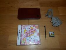 BURGUNDY WINE NINTENDO DSi XL CONSOLE & OFFICIAL CHARGER 2 GAMES & STYLUS PEN