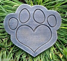 Gostatue MOLD heart pawprint stepping stone concrete plaster abs plastic mold