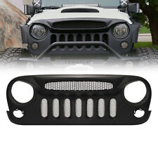 Front Grill Grille Mesh Hood For 2007-2015 Jeep Wrangler Rubicon Sahara JK 07-15