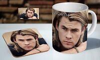 Chris Hemsworth Awesome Face Tea / Coffee Mug Coaster Gift Set