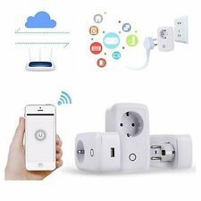 Smart WiFi Remote Control Timer Socket Outlet Switch EU Plug For Android iPhone