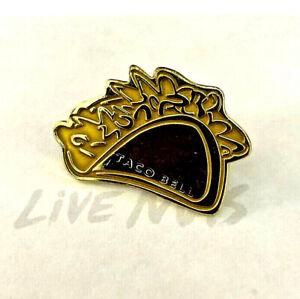 Rare Taco Bell Hat Lapel Pin Golden Taco Live Mas