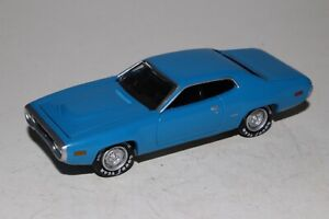 JOHNNY LIGHTNING 1972 PLYMOUTH SATELLITE, BLUE, REAL RIDERS, 1:64, EXCELLENT