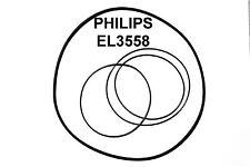 SET CINGHIE PHILIPS EL 3558 REGISTRATORE A BOBINE BOBINA NUOVE FRESCHE EL3558