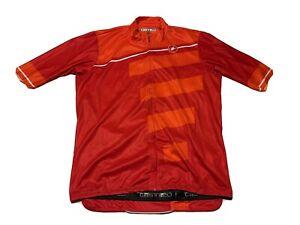 Castelli - Cycling Jersey Half Zipper Men's Size XL Red B4