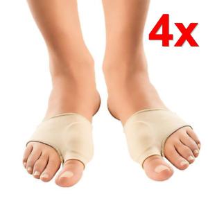 1 oder 2 Paar Silikon Bandagen Hallux Valgus Hammerzeh Gel Bandage Fußbandage