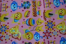 """Pink Lion Baby Print Quilting Fabric Craft Apparel Upholstery 45"""" Wide #103"""