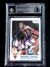 1985 MICHAEL JORDAN STAR ROOKIE CARD SIGNED BECKETT CERTIFIED AUTOGRAPH AUTO #1