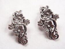Flower Corsage Stud Earrings Sterling Silver Corona Sun Jewelry
