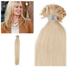"20"" Remy Human Pre Bonded Nail U Tip Keratin Fusion Hair Extensions #24 Blonde"