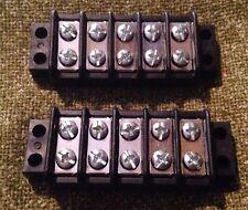 20A 5 Circuit Dual-Row Heavy Duty Auto Marine Grade Junction Block NEW Lot Of 2