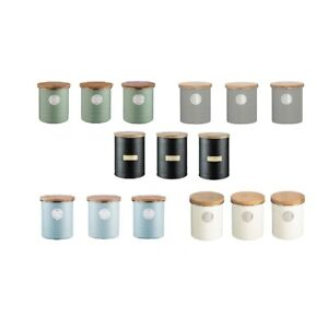 NEW TYPHOON METAL TEA COFFEE OR SUGAR CANISTERS 1 LITRE Cannisters Storage