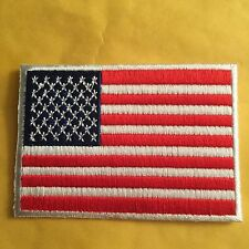 American Flag Patch Iron On Or Sew On White Border Us United States Shoulder