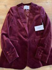 FRAME Velvet Jacket Blazer, Pinot, NWT, Size 0