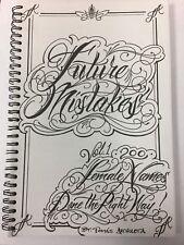 Future Mistake Tattoo book - Female Name Lettering Flash Books