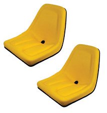 New Yellow Set of 2 Seats for John Deere Gator TM333YL Bobcat Skid Steer Case-IH