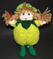 "Chosun Girl Green 9"" Plush Stuffed Animal Toy Doll Yarn Hair Braids"