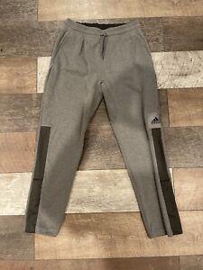 Adidas Climalite Sweatpants Basketball Club Mens Size Large Tall Gray Warm Ups