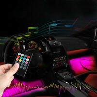 4x NEW 72 LED Interior Car USB Atmosphere Light Strip Wireless IR Remote Control
