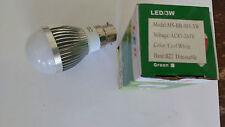 10 + 1 FREE 3W Dimmable BC Cool White LED Light Lamp Bulb Low Energy 240V JobLot