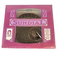 New White Swan Vtg 1995 Solid Bronze sundial Roman numerals Sun