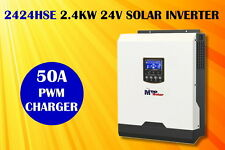 (HSE)3kVA 2400w 24v solaire pv inverseur 50A chargeur solaire