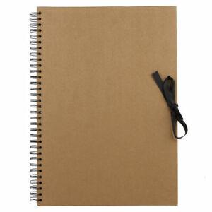 Seawhite of Brighton Kraft Brown Paper Wire Bound Sketch / Display Book A3