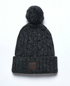 Superdry Mens Trawler Cable Bobble Beanie Hat