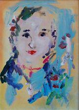 Ernesto Treccani Olio su tela Cm 35 x 25