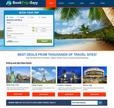 Turnkey Travel Website -Hotels, Flights, Cruises & Rental Cars Make $1-$4/Click