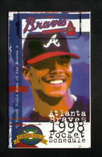 Atlanta Braves--Andruw Jones--1998 Pocket Schedule--U.S. Army