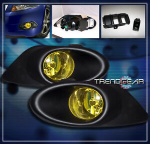 FOR 2008 2009 2010 HONDA ACCORD EX LX-S 4DR SEDAN BUMPER YELLOW FOG LIGHTS LAMP