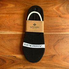 Sperry 3 Pack S/M 6-9 Men's Signature Invisible Liner Socks Black