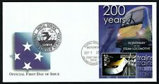MICRONESIA, SCOTT # 597, FDC COVER OF LOCOMOTIVES, EUROSTAR YEAR 2004, FROM SET