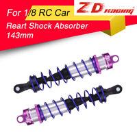 2pcs ZD Racing 143mm Rear Shock Absorber Damper Suspension for 1/8 HSP RC Car