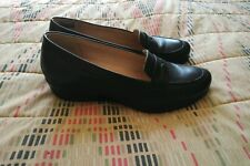 ECCO WOMEN'S LEATHER SLIP-ONS  - EU SIZE 39 - WORN ONCE - AS NEW!!