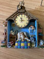 Vintage gary patterson cat clock Collectible