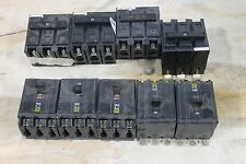 Lot Of 5 Square D Circuit Breakers And 4 Westinghouse Breakers