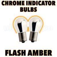 P21W BA15s SILVER CHROME AMBER Indicator Car Bulbs s