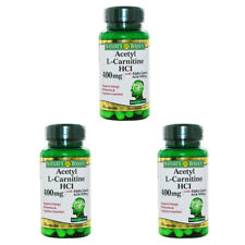 3X NATURE'S BOUNTY ACETYL L-CARNITINE HCI AMINO ACIDS BODY DIETARY SUPPLEMENT