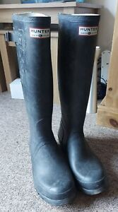 Hunter Wellies Mens UK 9 Black Wellington Boots Walking Fishing Festivals