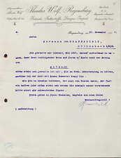REGENSBURG, Brief 1907, Getreide, Futterstoffe, Dünger-Import Theodor Wolf