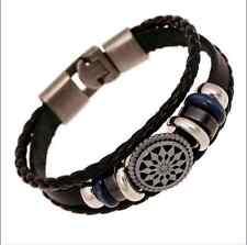Fashion Wrap Leather Charm Infinity Bracelet Lot Chain Men&women