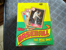 Topps Baseball 1987 Bubble Gum Baseball Cards Sealed Box 36 Count