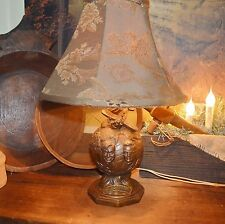 Antique 1935 WILEY POST & WILL ROGERS COMMEMORATIVE GLOBE LAMP AVIATION WORKING
