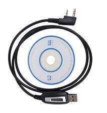 2 Pins USB Program Cable Program Software CD for Baofeng UV-5R BF-888S Radios SP