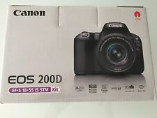Canon EOS 200D Kit 18-55mm IS STM SCHWARZ BLACK TOP ** NAGELNEU/OVP/RECHNUNG **
