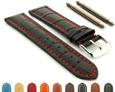 Extra Long Men's Genuine Leather Watch Strap Band 18 20 22 24 26 28 Croco MM