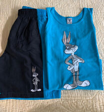 Vintage Warner Bros Studio Store Bugs Bunny Boys Bathing Suit and Tank Top