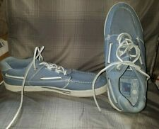 IMPULSE Mens Light Blue Boat Shoes 13M